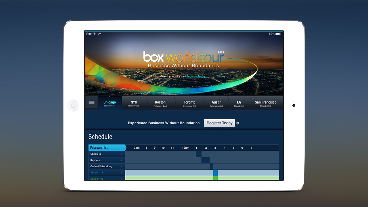 Box World Tour – Responsive Design